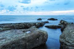 Rock and sea. The sea at Koood island of Trat, Thailand Stock Images