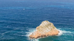 The rock in the sea Royalty Free Stock Photo