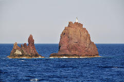 Rock in the sea near Crete island Stock Photos