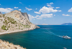 Rock and sea, Noviy svet, Crimea Royalty Free Stock Photos