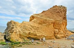 Rock beside sea in Odessa Royalty Free Stock Photography