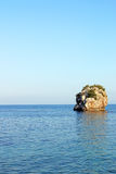 Rock in the sea Parga Royalty Free Stock Images