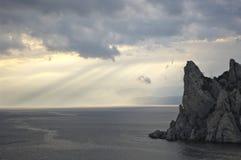 Rock in sea Stock Photo