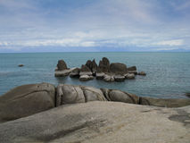 Rock in the sea of Samui island Royalty Free Stock Image