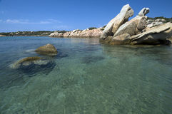 Rock and sea, Sardinia Royalty Free Stock Photo