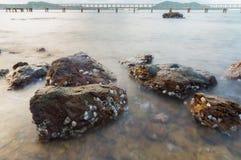 Rock at sea Royalty Free Stock Photo
