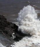 Rock sea shore spray Royalty Free Stock Image
