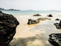 Rock sea in south of Thailand Stock Photos
