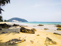 Rock sea in south of Thailand Royalty Free Stock Photos