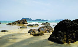 Rock sea in south of Thailand Royalty Free Stock Photo