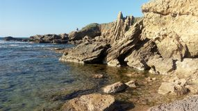 Rock at the sea Stock Photo