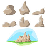 Rock set and background Stock Photography
