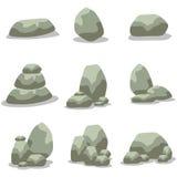 Rock set element of vector art Royalty Free Stock Image