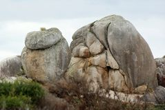 Rock Shapes Tasmania. The island was adjoined to the mainland of Australia until the end of the last glacial period about 10,000 years ago. Tasmania has the Stock Photography