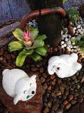 Rock sheep Doll in the gravel garden. Stock Photo