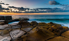 Rock Shelf Seascape. Taken at North Avoca Beach, Central Coast, NSW, Australia Royalty Free Stock Photography