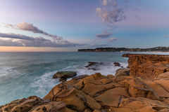 Rock Shelf Seascape. Taken at North Avoca Beach, Central Coast, NSW, Australia Royalty Free Stock Images