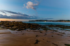 Rock Shelf Seascape. Taken at North Avoca Beach, Central Coast, NSW, Australia Stock Images