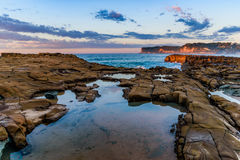 Rock Shelf Seascape. Taken at North Avoca Beach, Central Coast, NSW, Australia Stock Photo