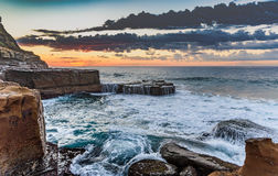 Rock Shelf Seascape. Taken at North Avoca Beach, Central Coast, NSW, Australia Stock Image
