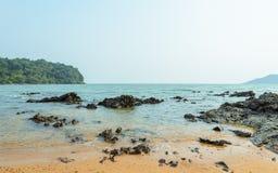 Rock shore beach Stock Images