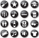 Rock show concert icon set Stock Images