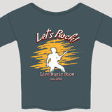 Rock show tee shirt Royalty Free Stock Photography