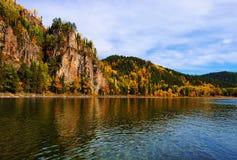 Rock the Siberian river Royalty Free Stock Photos