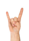 Rock on sign Stock Images