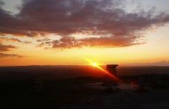 Anvil Rock Sunset on Dartmoor Royalty Free Stock Photo