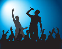 Rock.Silhouettes of musicians. Rock Silhouettes of musicians stock illustration