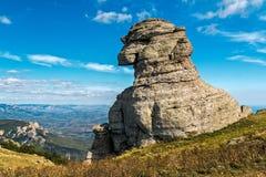 Rock similar to a sphinx Stock Photos