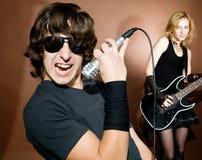 Rock singer royalty free stock photos