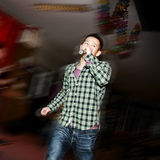The Rock Singer. This picture is taken at a big party Royalty Free Stock Image