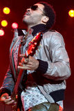 Rock singer Lenny Kravitz at concert Stock Image