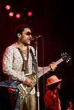 Rock singer Lenny Kravitz at concert Stock Photography