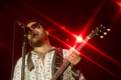 Rock singer Lenny Kravitz at concert Royalty Free Stock Photos