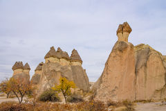 Rock Sites of Cappadocia in autumn stock photography