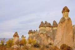 Rock Sites of Cappadocia in autumn Stock Image