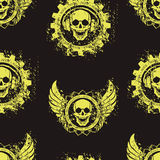 Rock skull music pattern Stock Photos