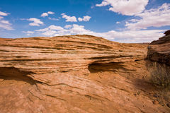 Rock and Sky. Rock formation in the Painted Desert, Utah stock images