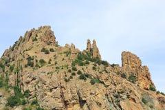 Rock on sky background (Karadag reserve) Stock Photography