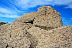 Rock and sky landscape stock photos