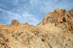 Rock and sky landscape stock photo
