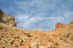 Rock and sky landscape stock image