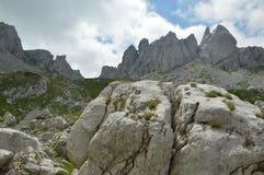 Rock in the sky. Rocky ridges in the heart of Balkan Stock Photo