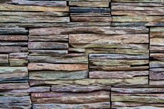 Rock Slate Wall. Wall made of stacked rock slates Royalty Free Stock Images