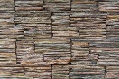 Rock Slate Wall. Wall made of stacked rock slates Royalty Free Stock Image
