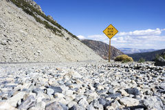 Rock Slide Area Sign Stock Image