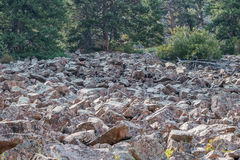 Rock slide. Of red rocks in the foothills of the Rocky Mountains Stock Images